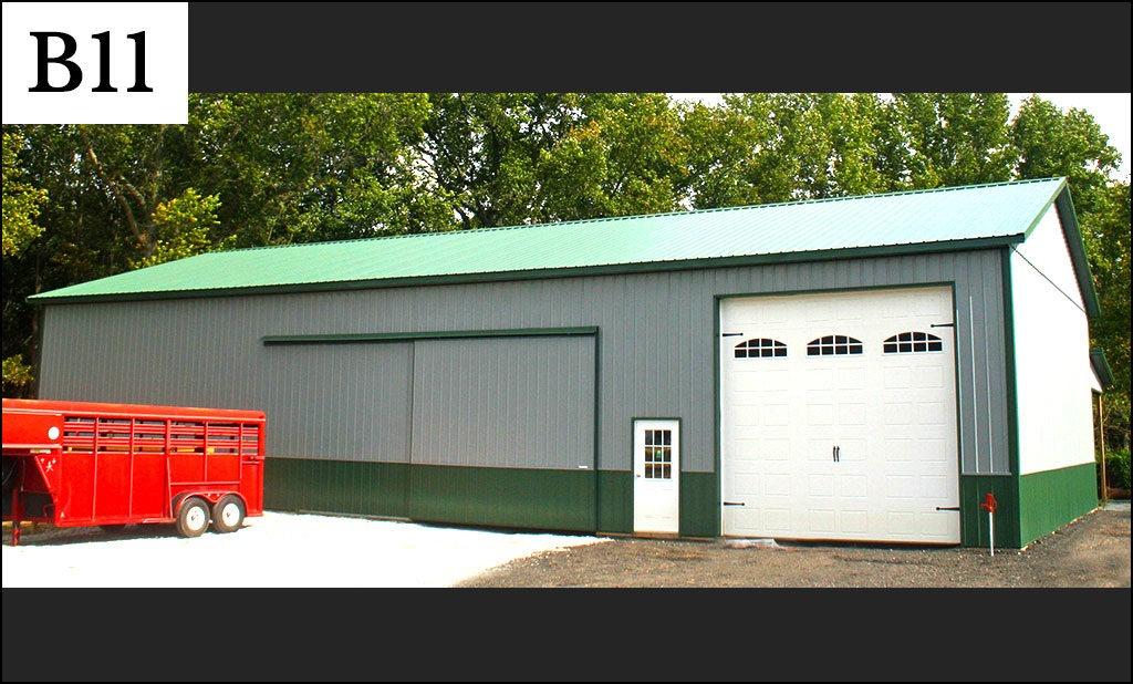 custom pole barn b11