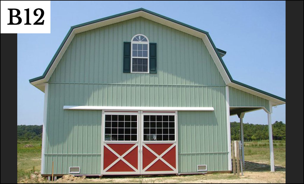 custom pole barn b12