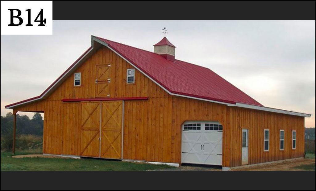custom pole barn b14