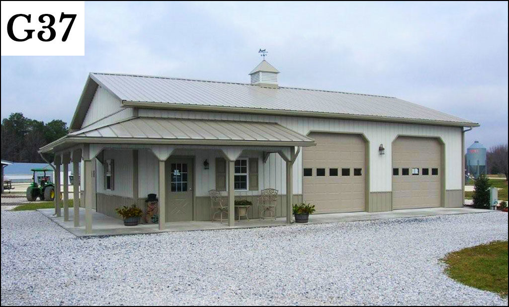 Custom garages gallery conestoga buildings for 24x36 pole barn