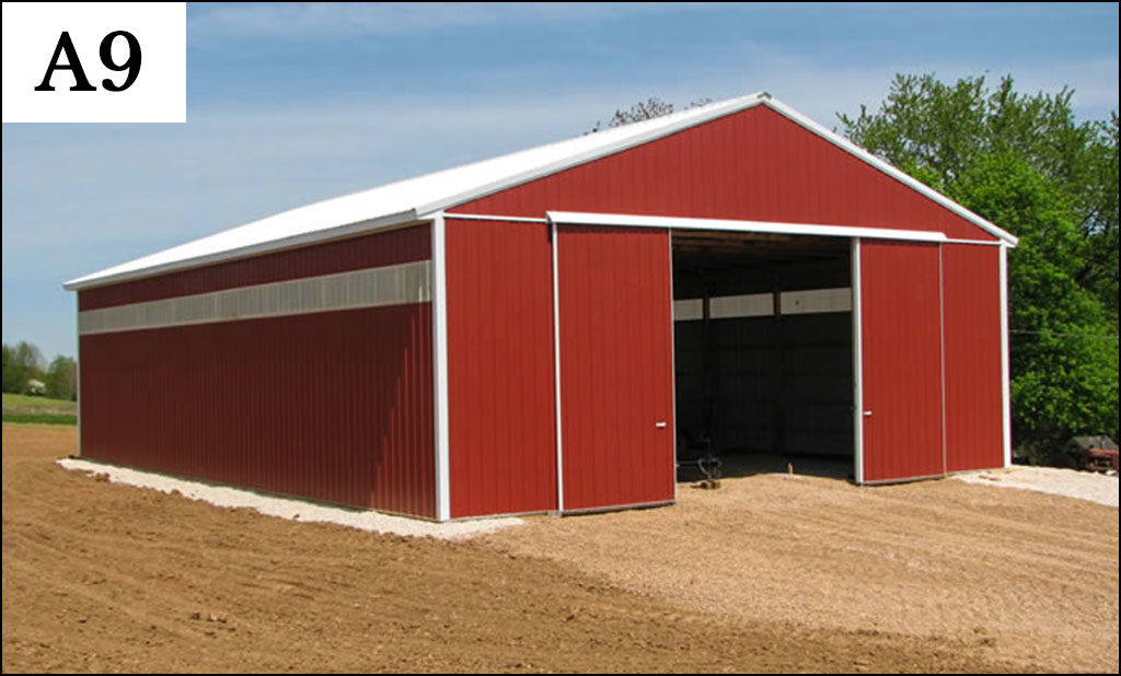 custom post frame ag building a9