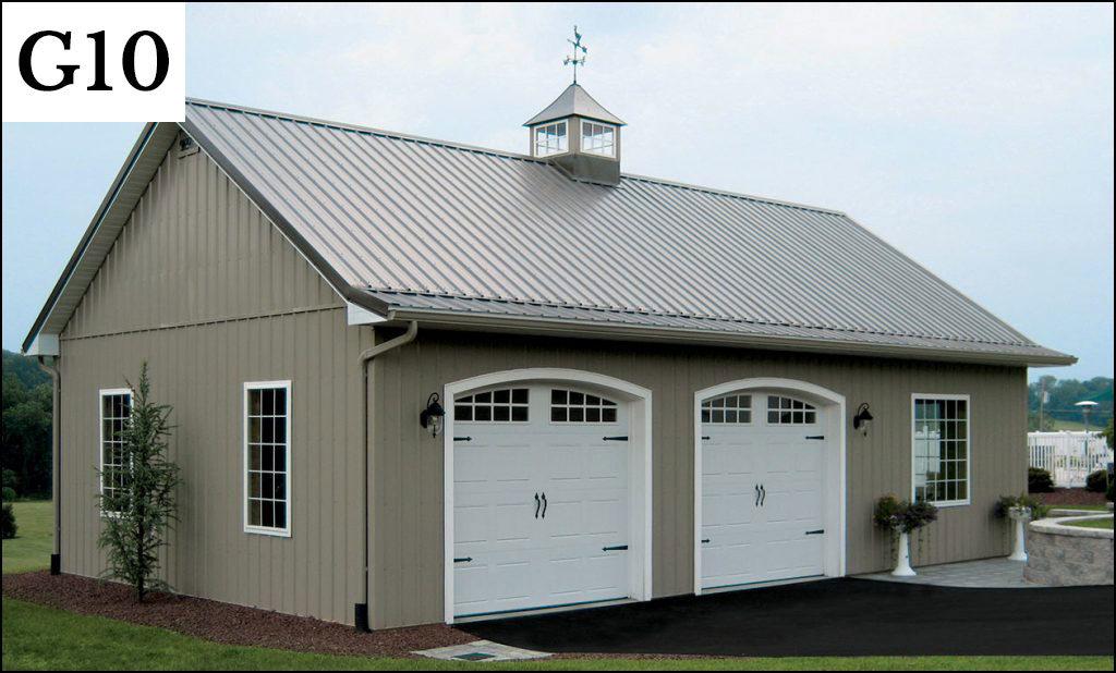 custom post frame garage g10