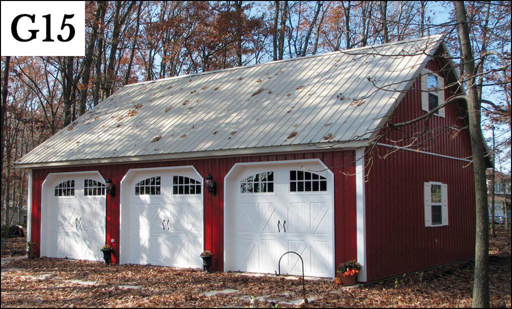 custom post frame garage g15