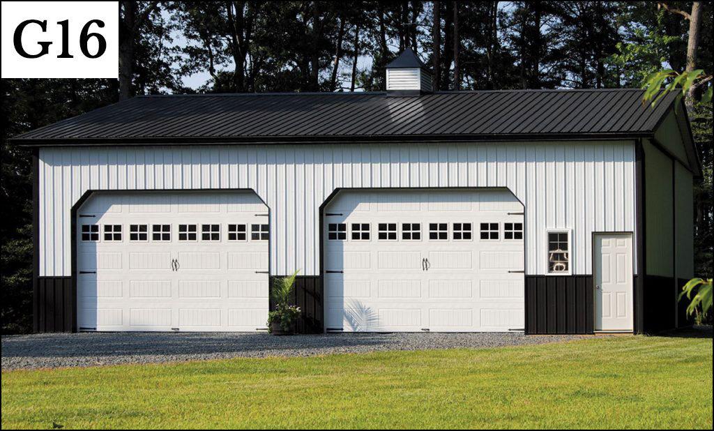 custom post frame garage g16