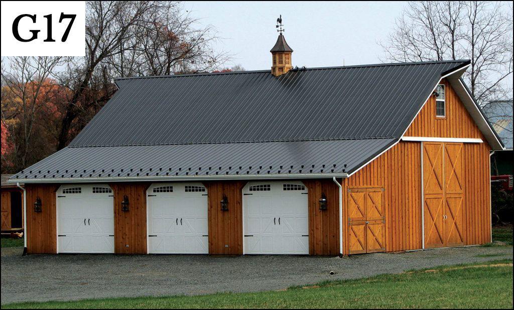custom post frame garage g17