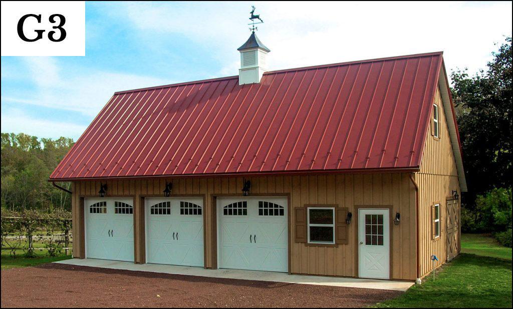 custom post frame garage g3