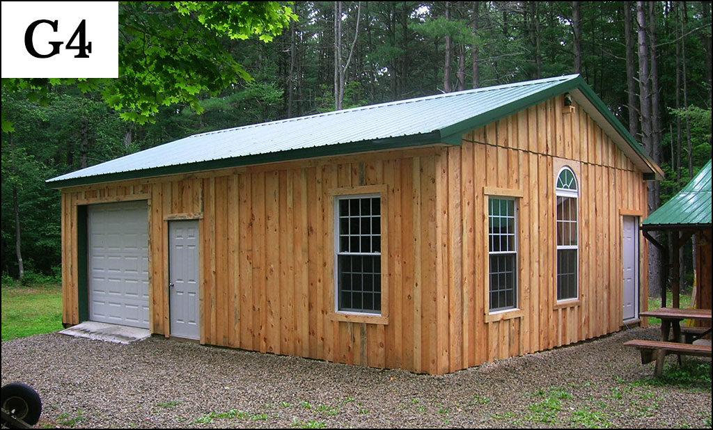 custom post frame garage g4