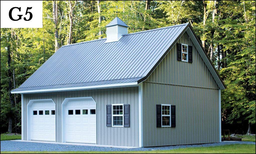 custom post frame garage g5