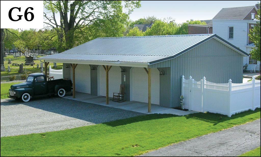 custom post frame garage g6
