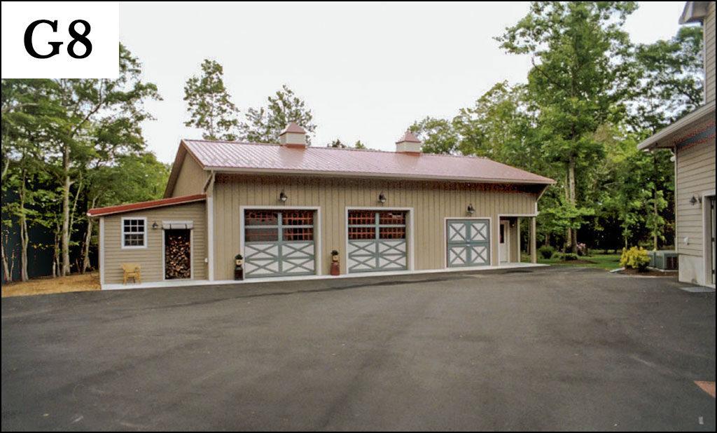 custom post frame garage g8