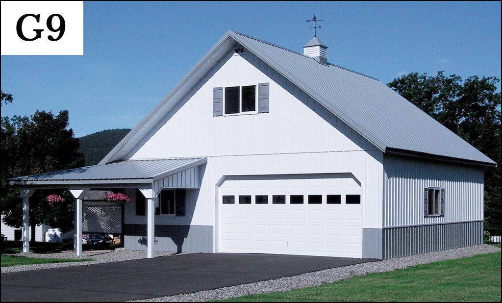 custom post frame garage g9