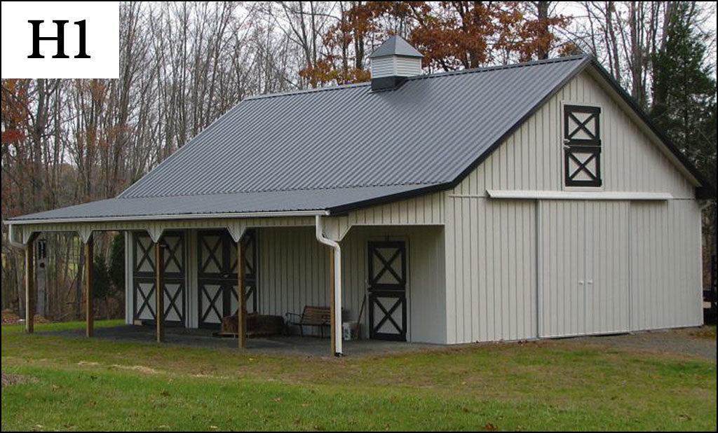 custom horse barn h1