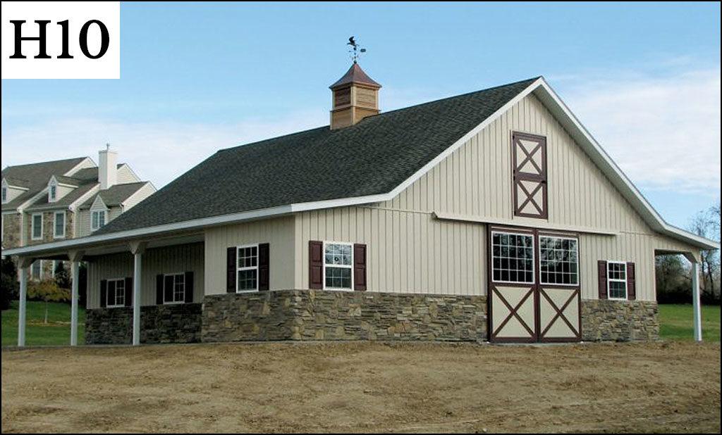 custom horse barn h10