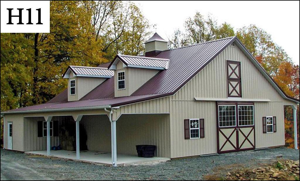 custom horse barn h11