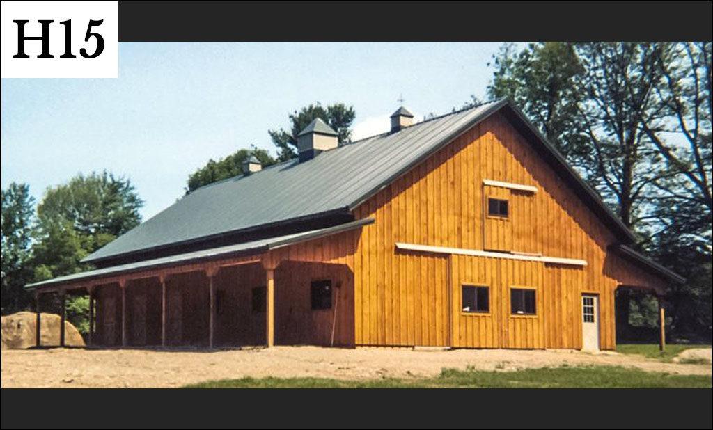 custom horse barn h15