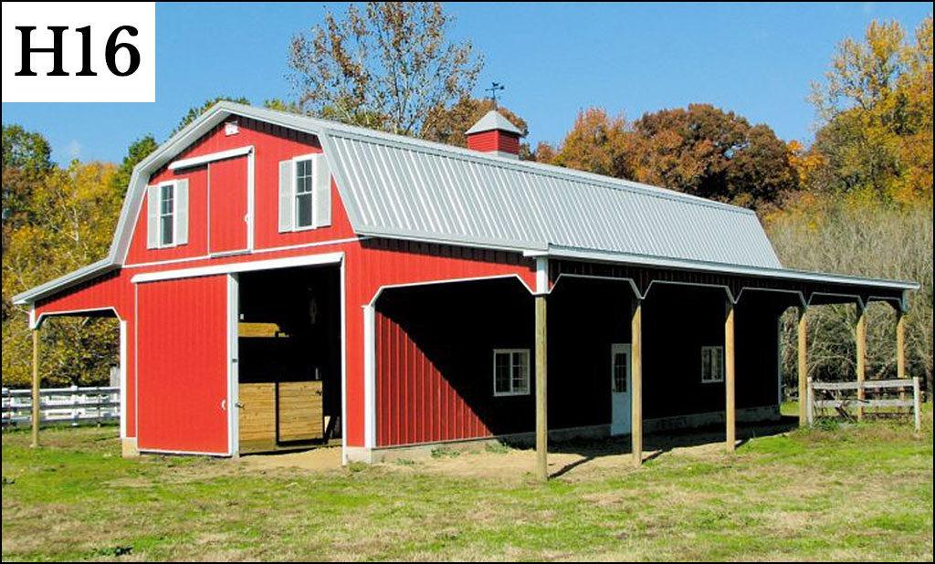 custom horse barn h16