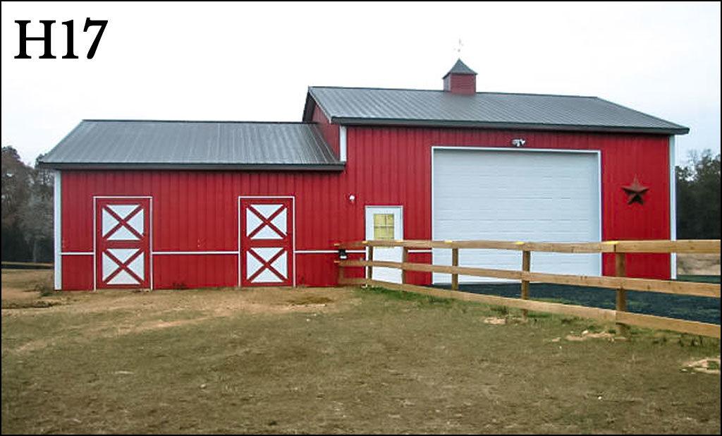 custom horse barn h17