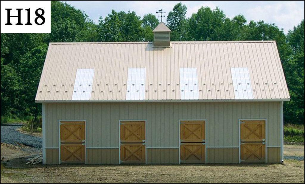 custom horse barn h18