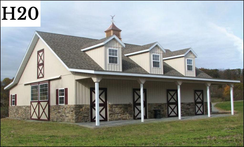 custom horse barn h20