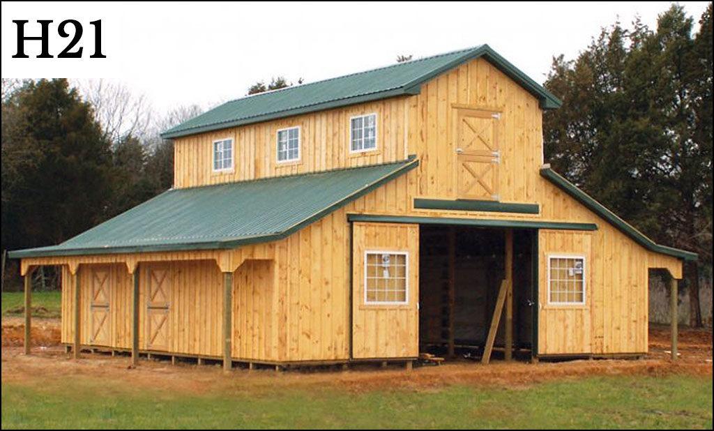 custom horse barn h21