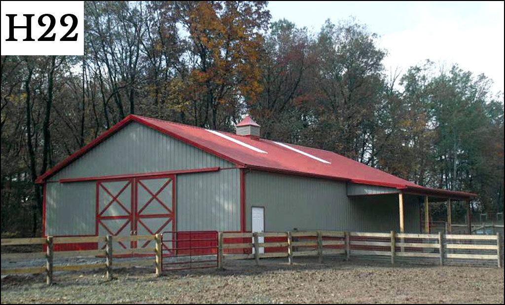 custom horse barn h22