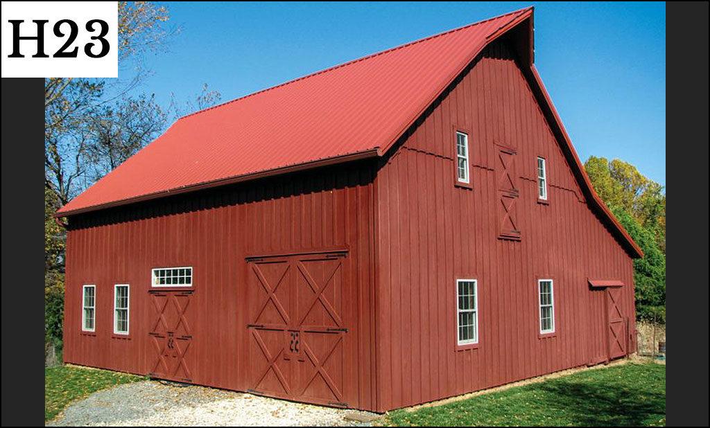 custom horse barn h23