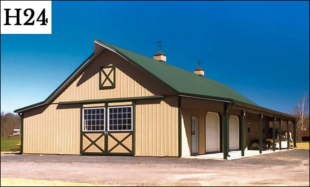 custom horse barn h24