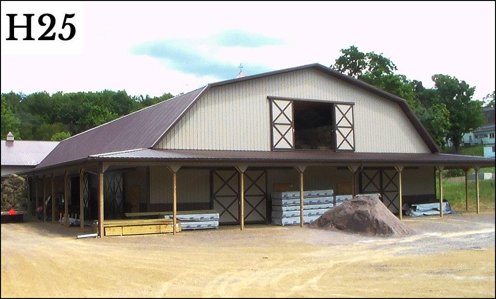 custom horse barn h25