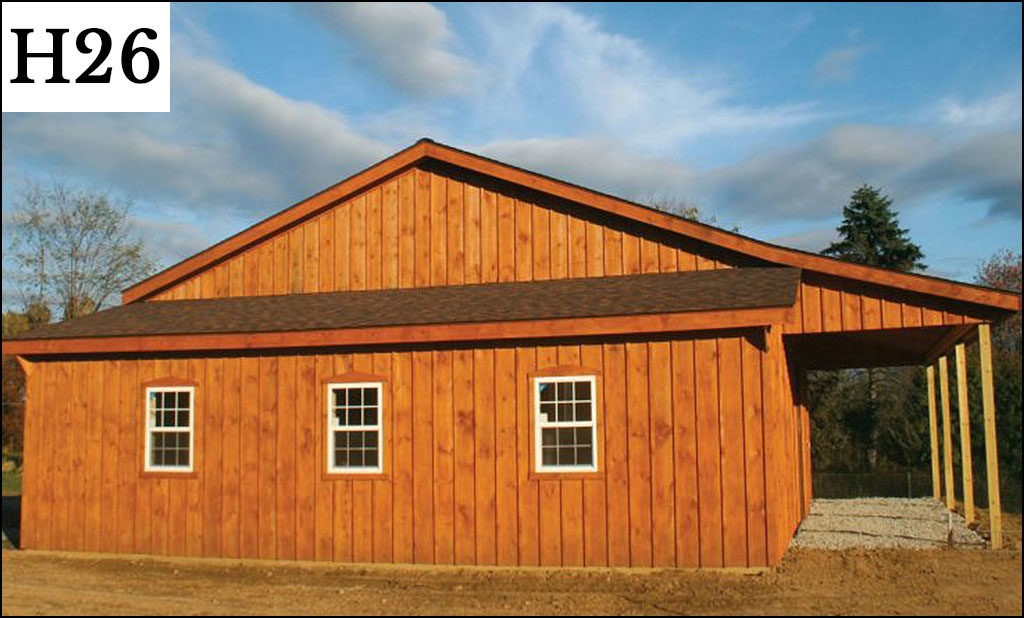 custom horse barn h26