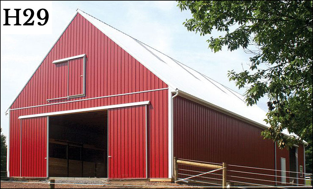 custom horse barn h29