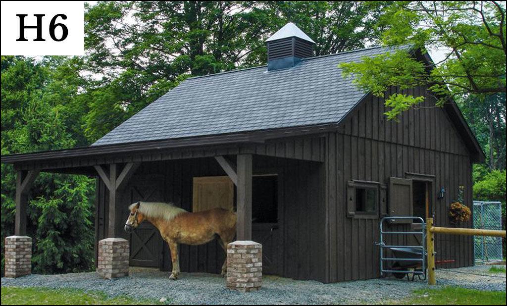 custom horse barn h6