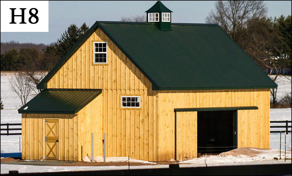 custom horse barn h8