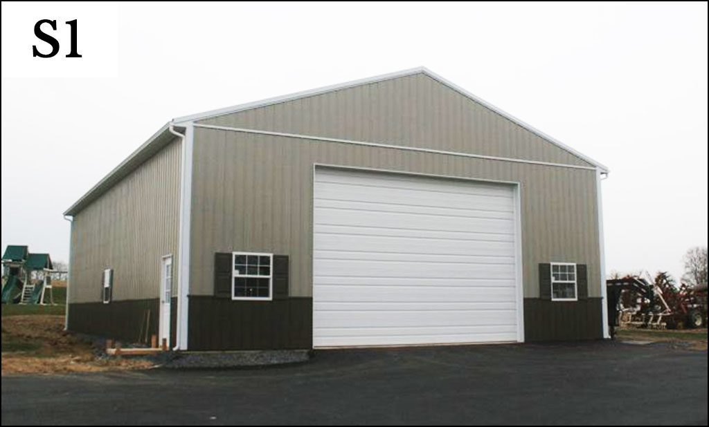 custom post frame storage building s1