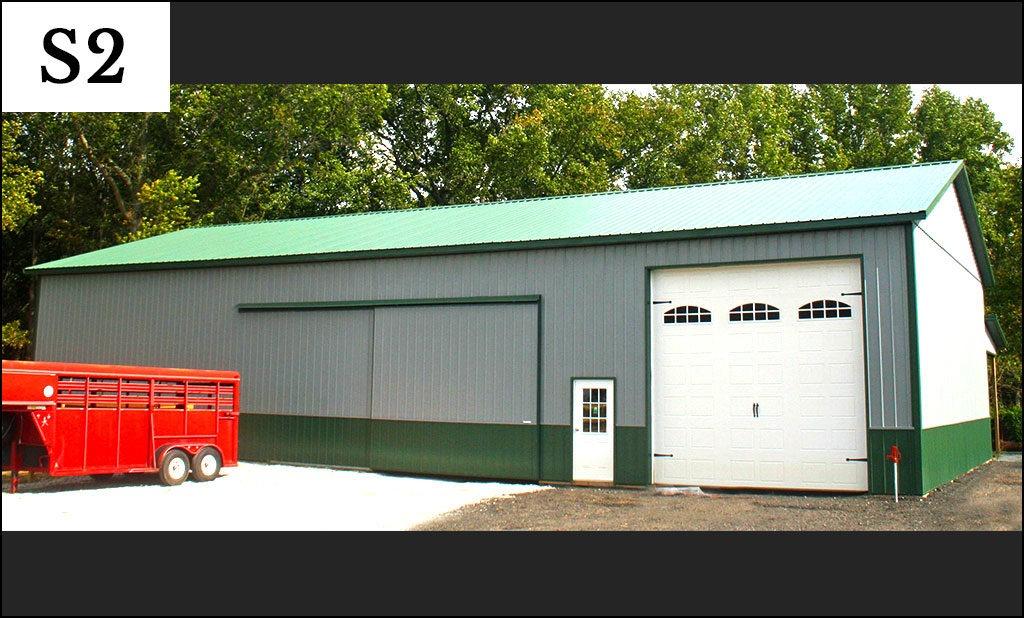 custom post frame storage building s2