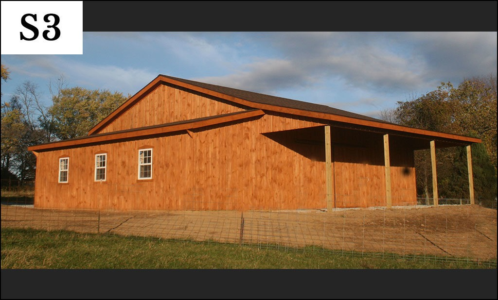 custom post frame storage building s3