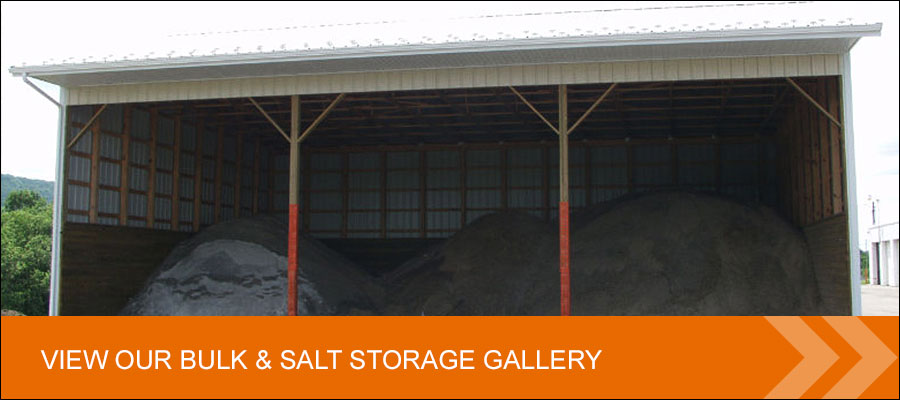 view our post frame bulk and salt storage building gallery