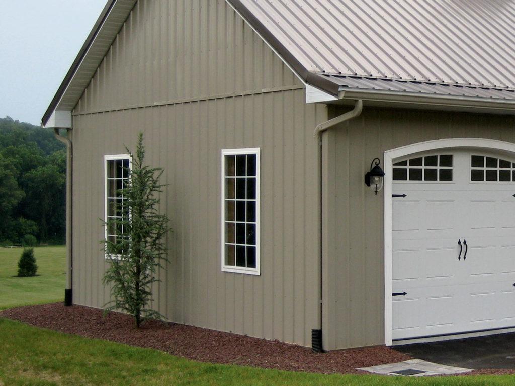 post frame garage door