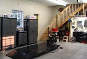 finished post frame garage interior