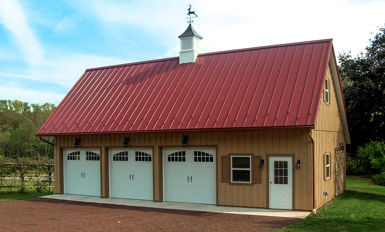 Overhead door options for your garage conestoga buildings for Garage roofing options