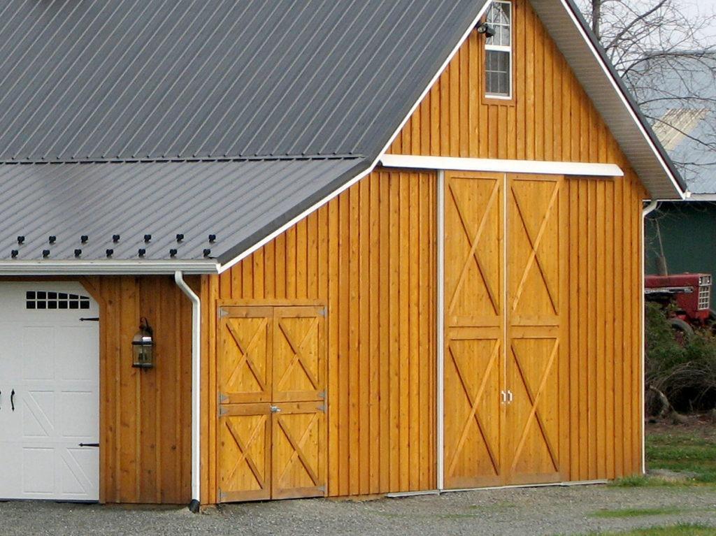 multi use board batten siding on a pole barn