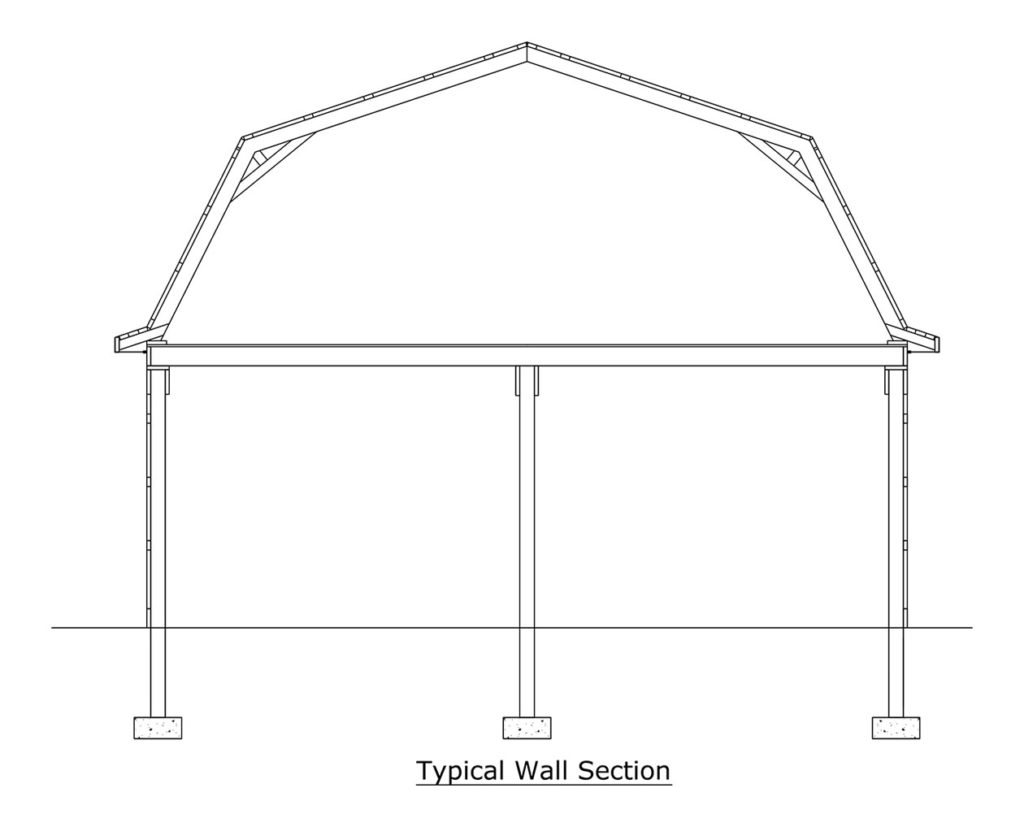 pole barn framing blueprint