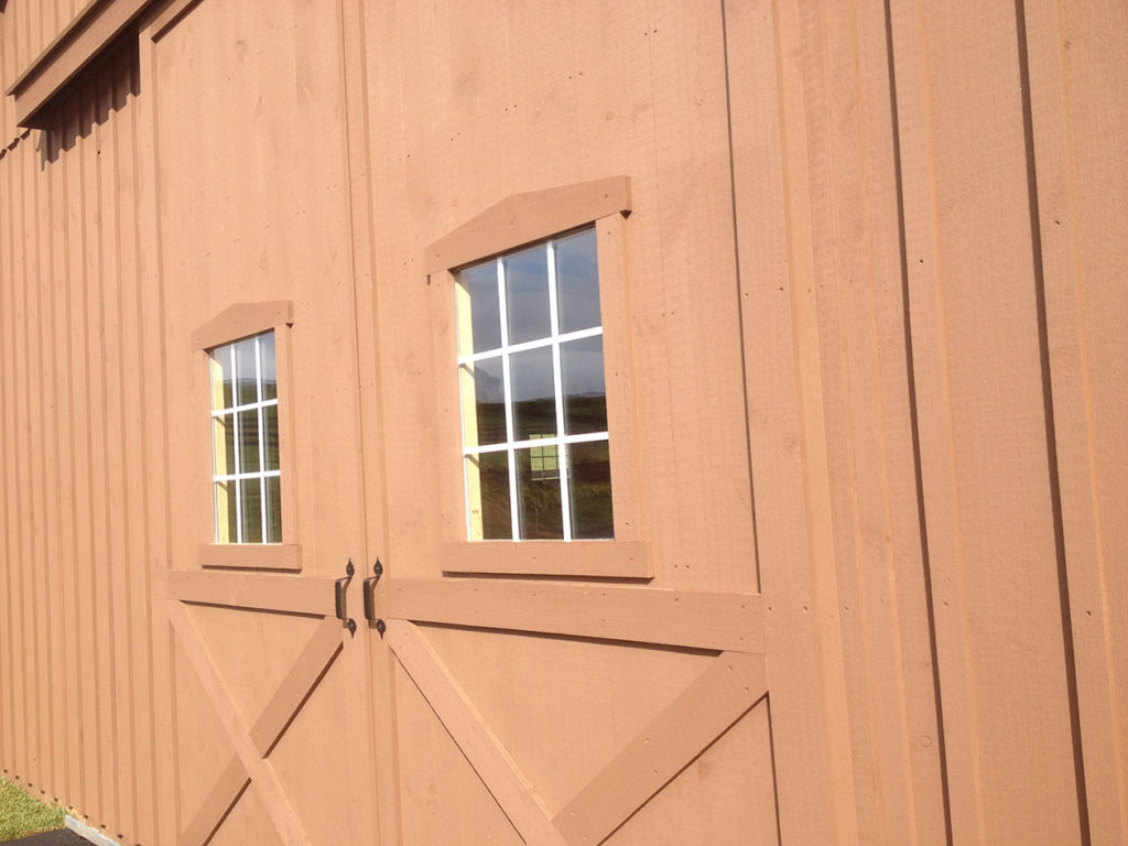 pole barn doors include windows too