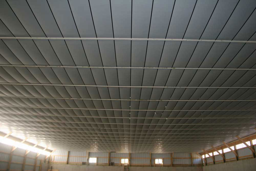finished post frame ceiling