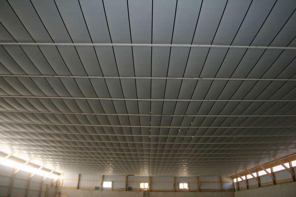 finished post frame ceiling