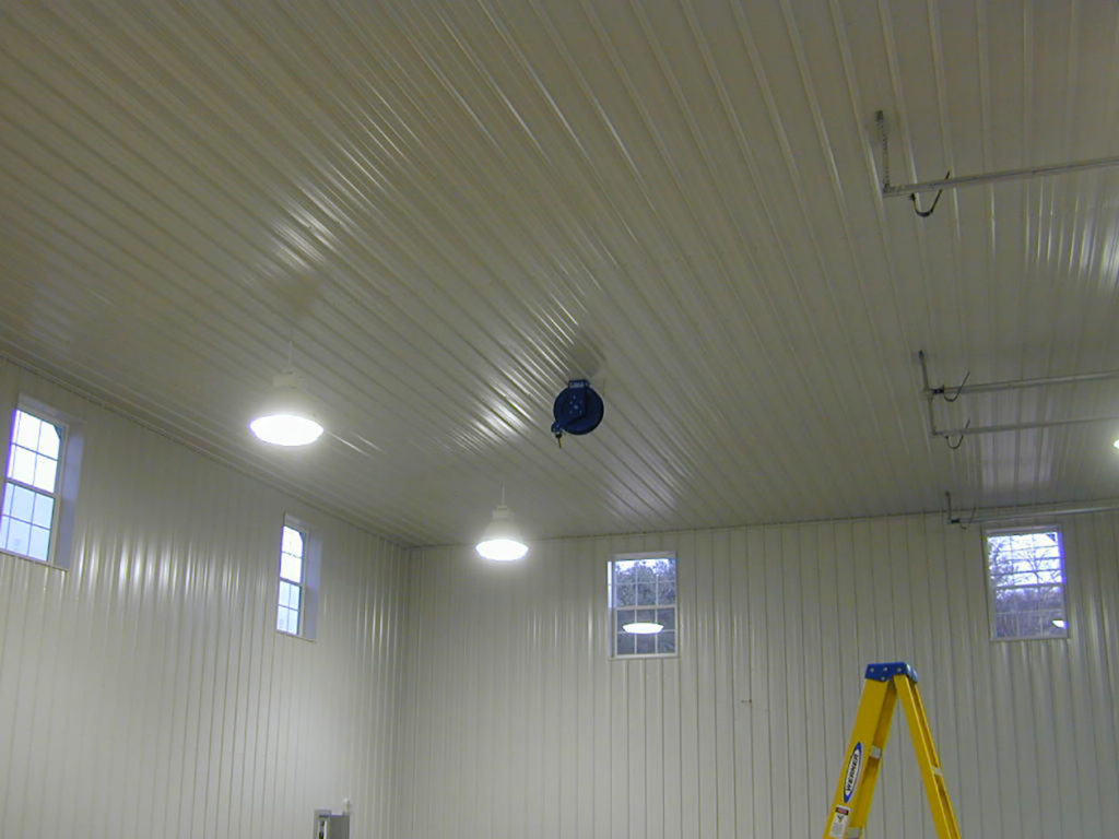 finished ceilings for pole barns