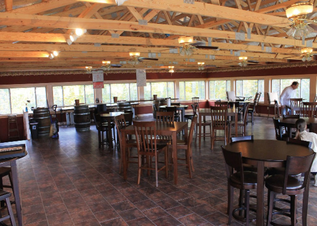 finished restaurant interior